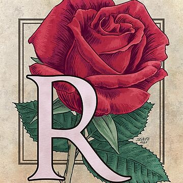 R is for Rose card by stephsmith