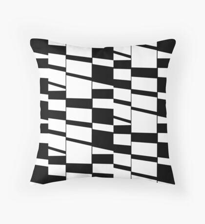 Slanting Rectangles Throw Pillow