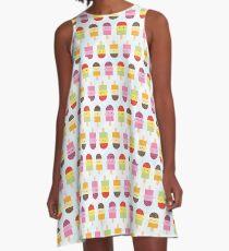 Kawaii Summer Ice Lollies / Popsicles A-Line Dress