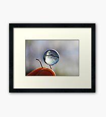 The World At My Fingertips  Framed Print