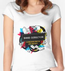 BAND DIRECTOR Women's Fitted Scoop T-Shirt