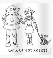 We are not Robots Poster
