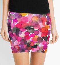 Watercolor dots Mini Skirt