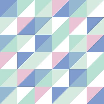 Cool Colours Palette Triangles by Revenge