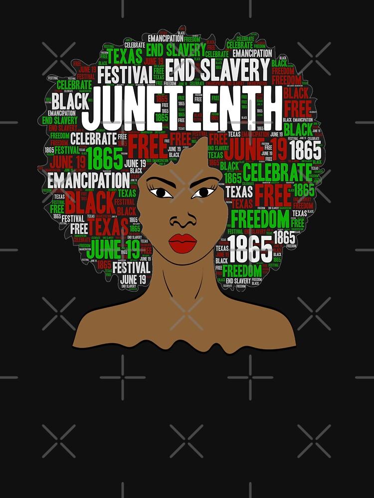 Juneteenth Natural Hair Afro Art for Black Women by blackartmatters