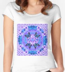 Victoria Mandala Collage Women's Fitted Scoop T-Shirt