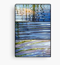 3 Minutes in The Ripple of Time - Triptych Canvas Print