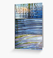 3 Minutes in The Ripple of Time - Triptych Greeting Card