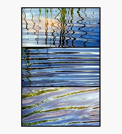 3 Minutes in The Ripple of Time - Triptych Photographic Print