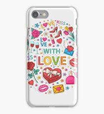 Love circle iPhone Case/Skin