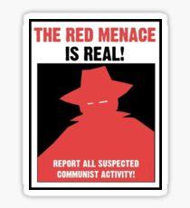 Pegatina El cartel de propaganda de la amenaza roja