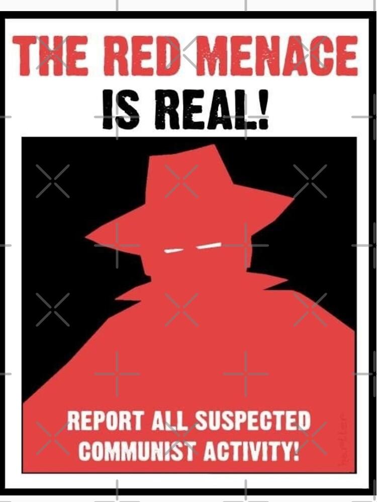 Das rote Bedrohungspropaganda-Plakat von Britkek