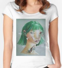 Whiteflies Women's Fitted Scoop T-Shirt