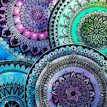 Watercolor mandalas by MariaMahar