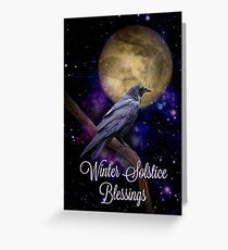 Winter Solstice Blessings Raven Cards Greeting Card