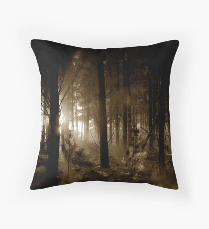 Forest mornings Throw Pillow