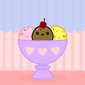 Kawaii ice cream by peppermintpopuk