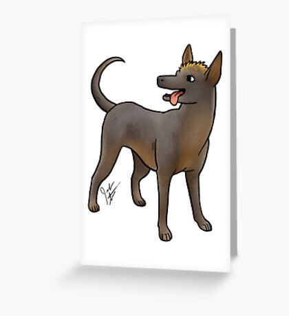 Xoloitzcouintli Greeting Card