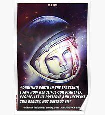Yuri Gagarin II Poster