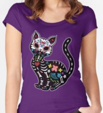 Dia de los Gatos Women's Fitted Scoop T-Shirt