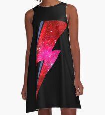 David Bowie - Ziggy Stardust A-Linien Kleid