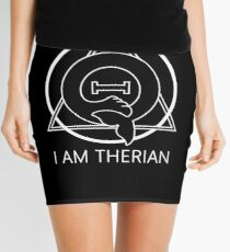 "PD (ytb) Theta-Delta Therian Symbol WHITE ""I AM THERIAN"" Mini Skirt"