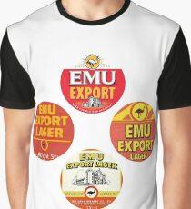 Emu Export History Collection - Diamond Print Graphic T-Shirt