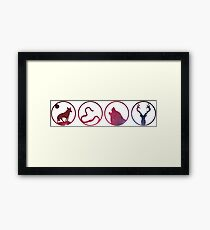 Moony, Wormtail, Padfoot, Prongs Framed Print