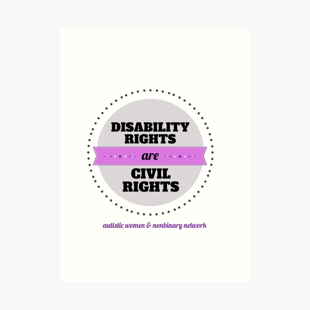 Disability Rights Art Print