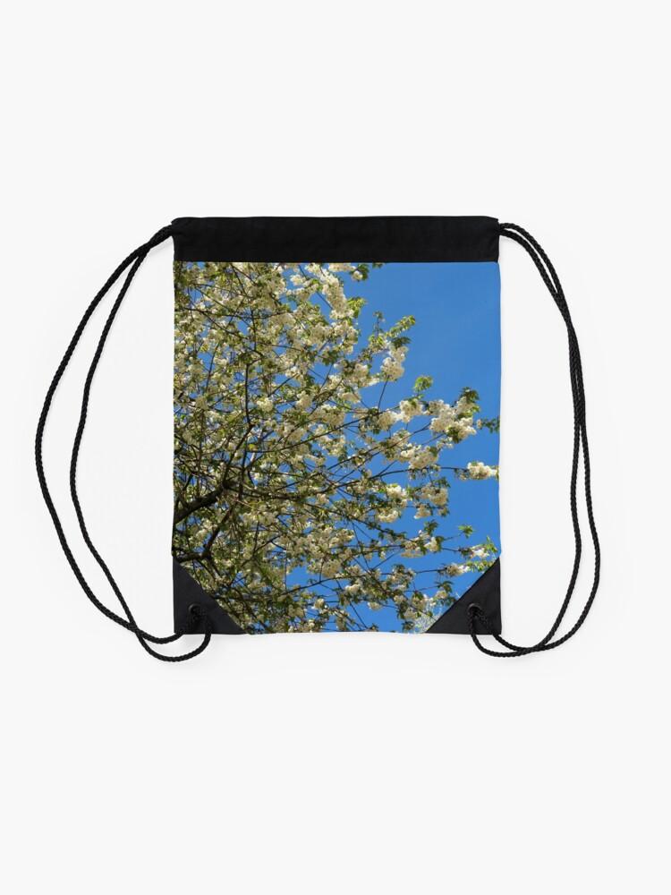 Alternative Ansicht von Weiße Blüten des Frühlings Turnbeutel