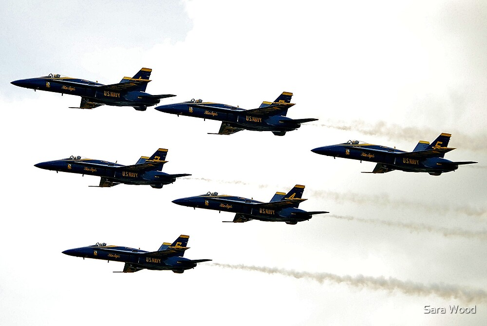Blue Angels in the Sky by Sara Wood
