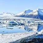 Jökulsarlon glacier bay, Iceland by hans peðer alfreð olsen