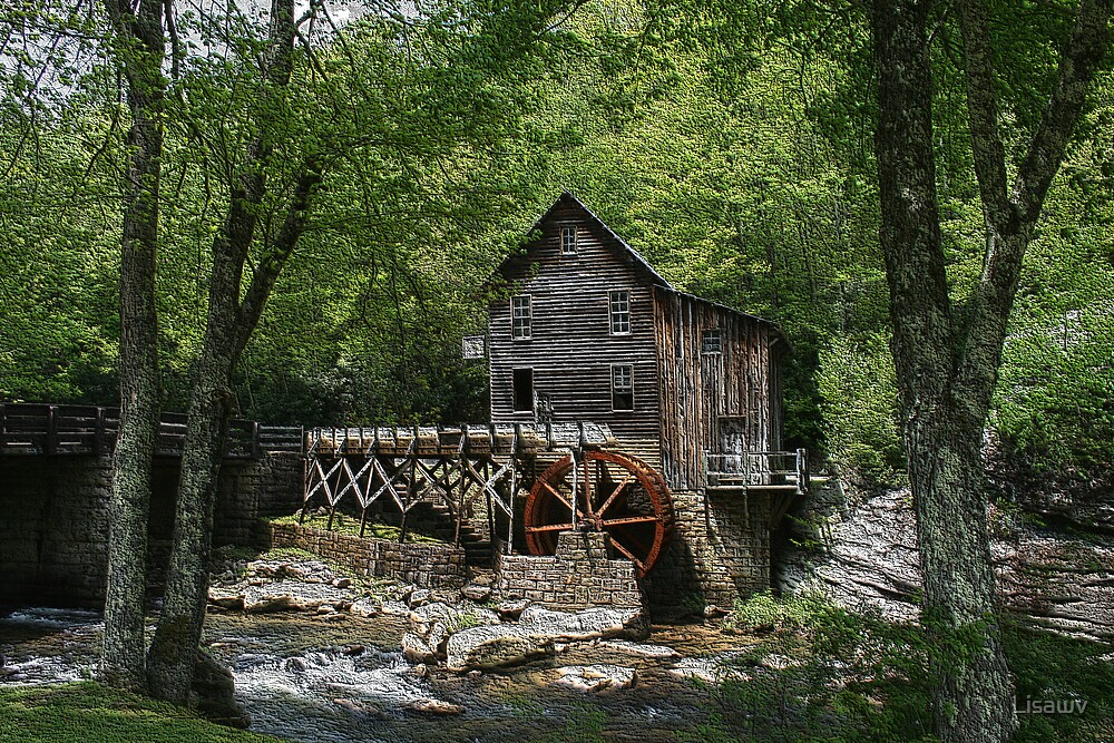 Glade Creek Grist Mill XIII by Lisawv