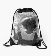 reflected child image Drawstring Bag