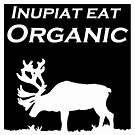 Inupiat Eat Organic - caribou in blk/wht by Rainey Hopson