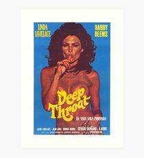 Deep Throat Poster Art Print