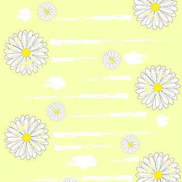 Pretty Distressed Graphic Daisies by Mayhill