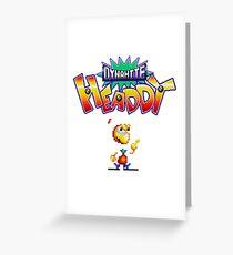 Dynamite Headdy - SEGA Genesis Title Screen Greeting Card