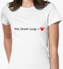 The Great Loop Equals Love Women's Fitted T-Shirt