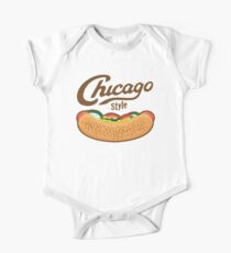 Chicago Style Hot Dog  One Piece - Short Sleeve