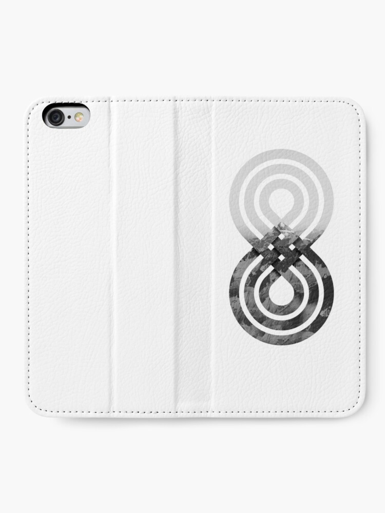 Alternate view of Nature's knot iPhone Wallet