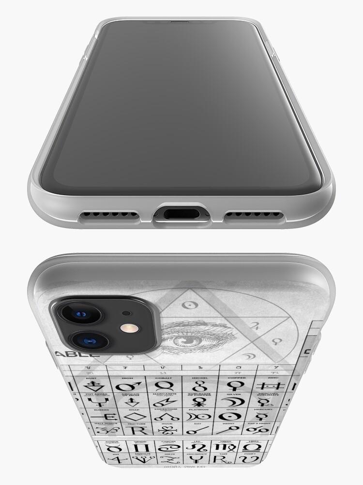 Alternative Ansicht von Die alchemistische Tabelle der Symbole iPhone-Hülle & Cover