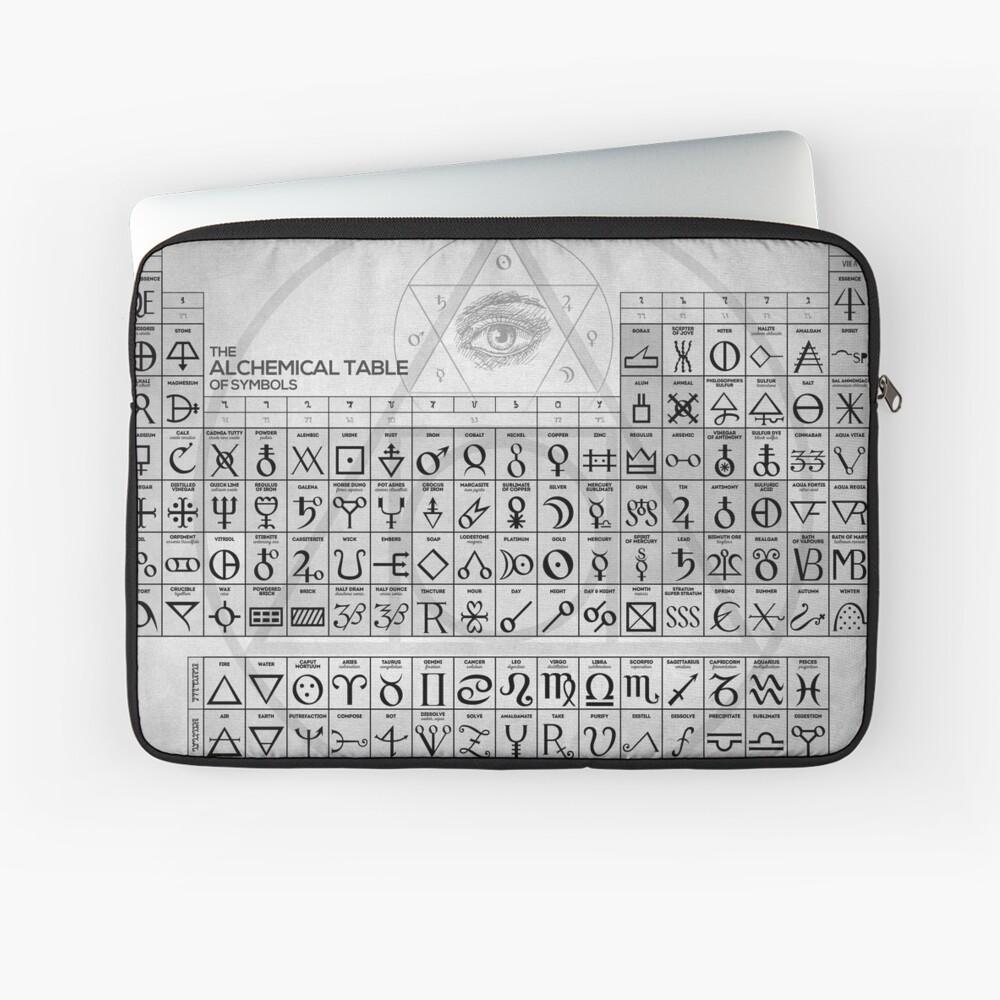 Die alchemistische Tabelle der Symbole Laptoptasche