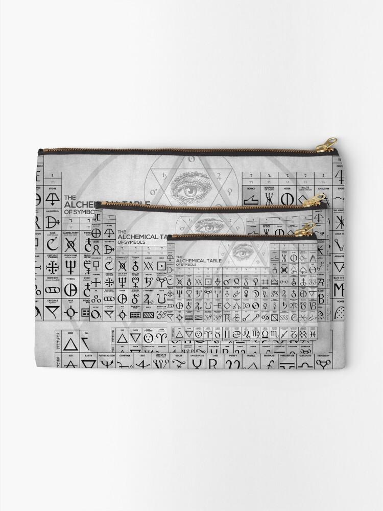 Alternative Ansicht von Die alchemistische Tabelle der Symbole Täschchen