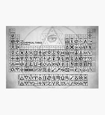 The Alchemical Table of Symbols Photographic Print