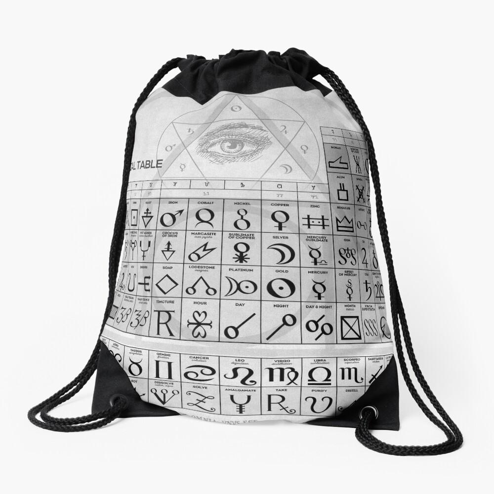 Die alchemistische Tabelle der Symbole Turnbeutel