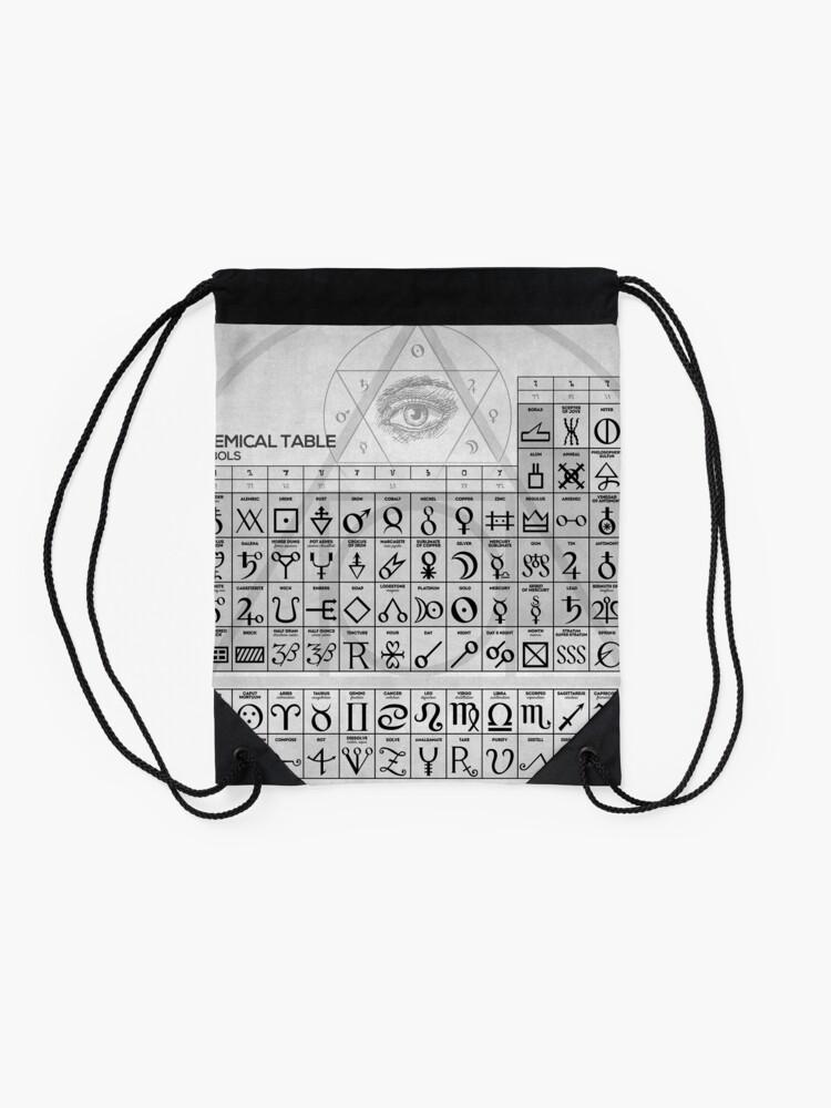 Alternative Ansicht von Die alchemistische Tabelle der Symbole Turnbeutel