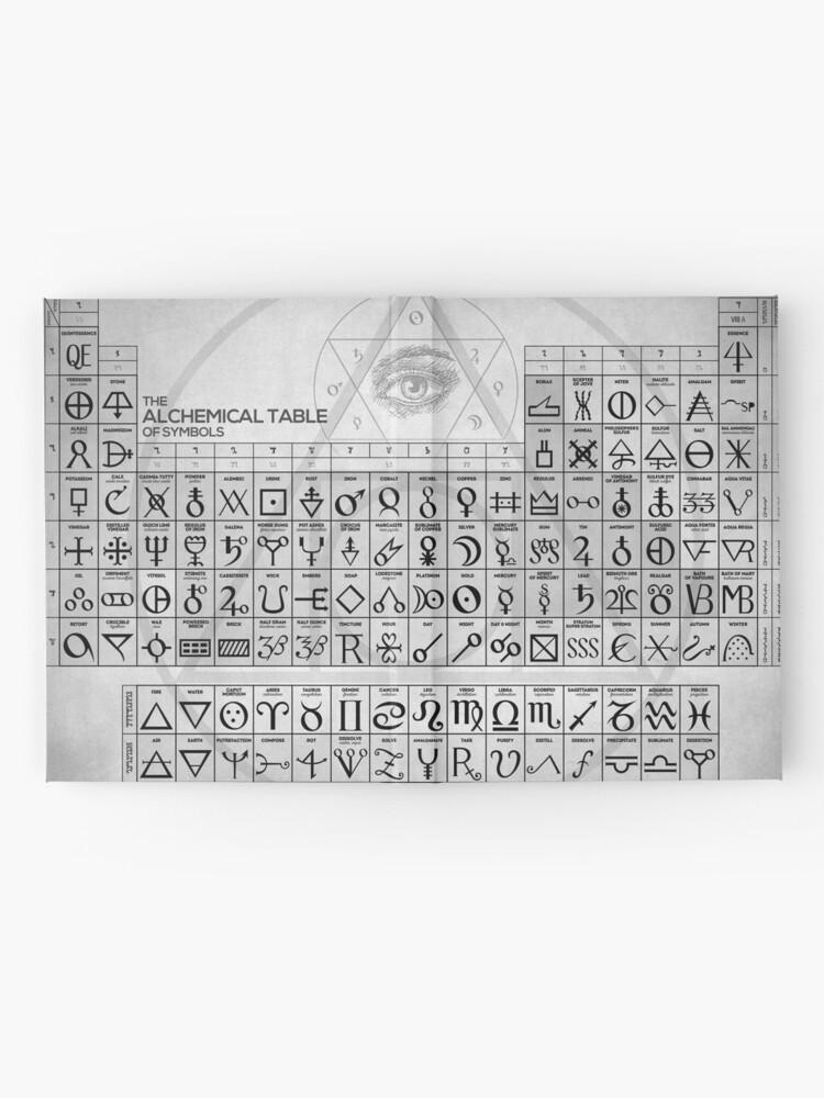 Alternative Ansicht von Die alchemistische Tabelle der Symbole Notizbuch