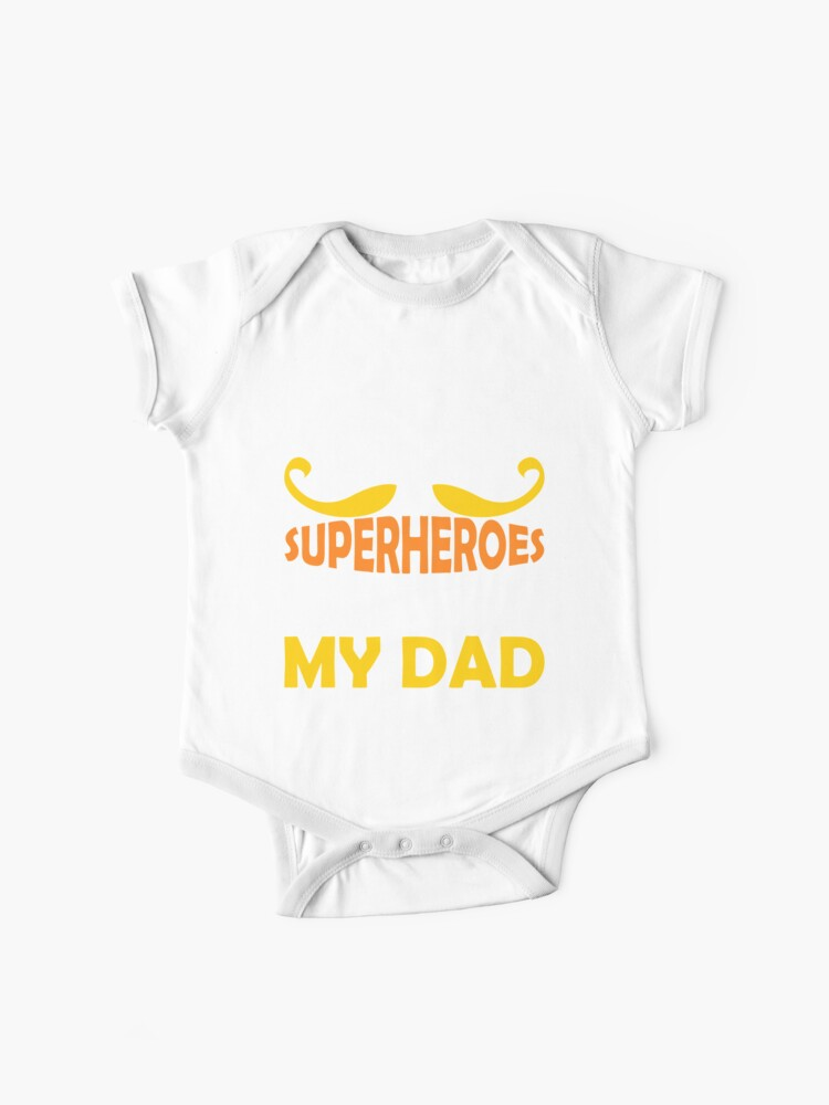 Fathers Day Superhero Dad Birthday Daughter Son Tshirt Gifts Baby One Pieces