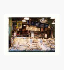 """Pike Place Fish Market"" Art Print"